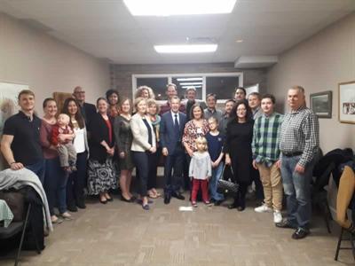 Visite à Saskatoon du consul de France à Vancouver, Philippe Sutter